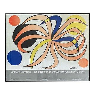 1977 Alexander Calder Abstract 'Calder's Universe' Framed Exhibit Poster For Sale