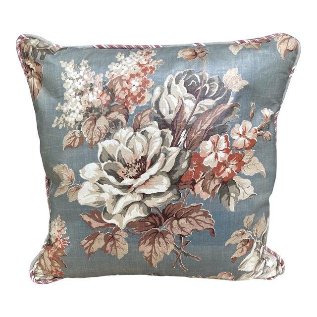 Floral Chintz Textile Throw Pillow For Sale