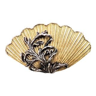 1960s Napier Book Piece Shell Brooch For Sale