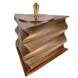 Otar Stacked Brass and Copper Box For Sale