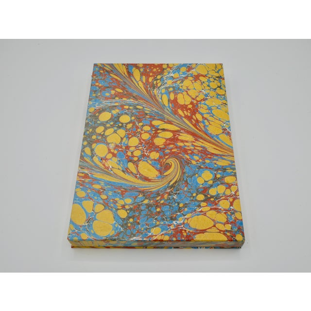 Yellow & Blue Coptic Notebooks- a Pair For Sale - Image 9 of 12