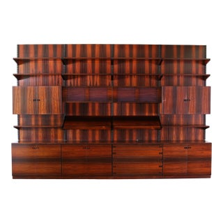 Vintage anish Ib Kofod Larsen Rosewood Modular Wall Unit For Sale