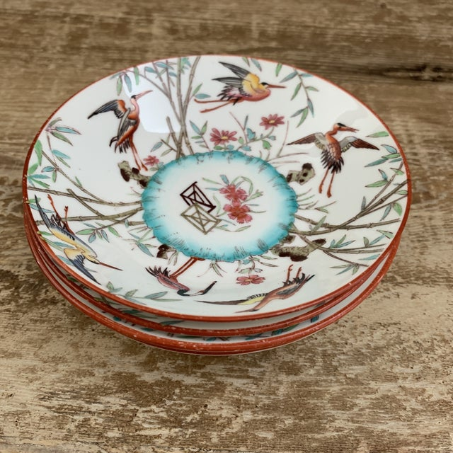 Late 19th Century Antique English Minton Appetizer Bowls Trinket Dishes - Set of 4 For Sale - Image 5 of 7