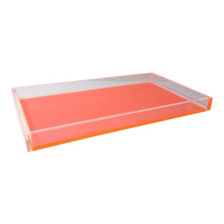 Lucite Tray with Neon Bottom For Sale