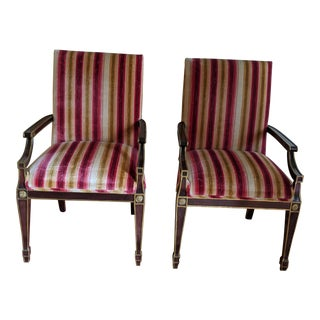 1990s Neoclassical Style Chairs - a Pair For Sale