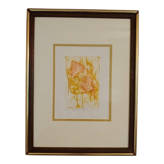 Mid-Century 1972 Abstract Expressionist Print For Sale