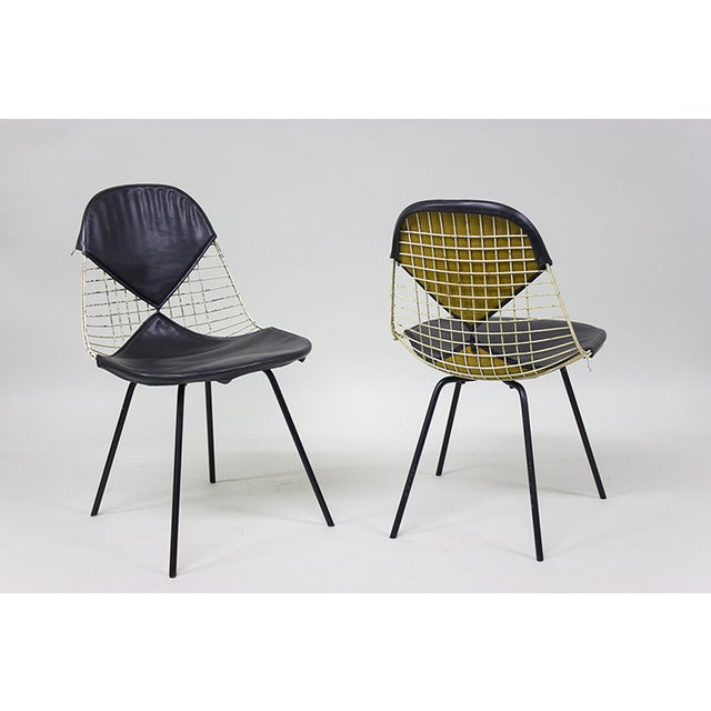 "1950s Early Eames Wire ""Bikini"" Chairs - A Pair - Image 5 of 5"