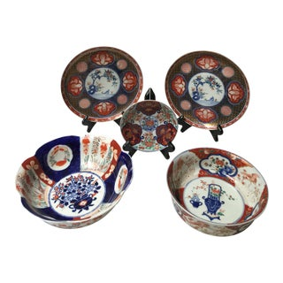 Japanese Imari Collection - 5 Pieces For Sale