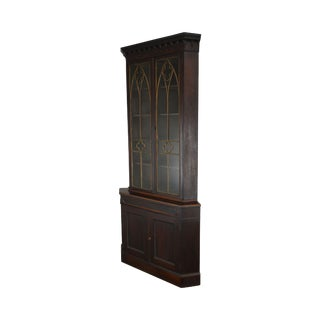 American Gothic Antique Rosewood Corner Cabinet Attributed to Meeks For Sale