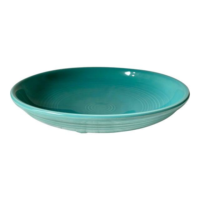 1990s Vintage Fiesta Ware Blue Teal Serving Bowl For Sale