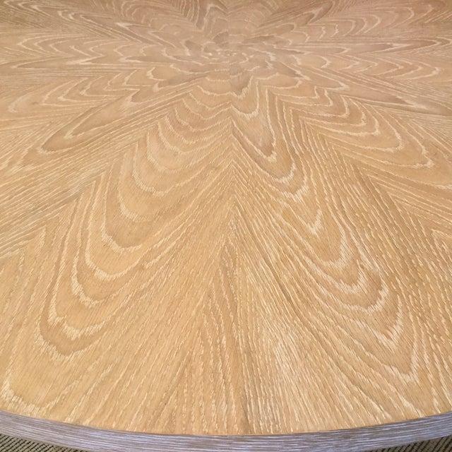 Cerused Oak Round Pedestal Table - Image 3 of 7