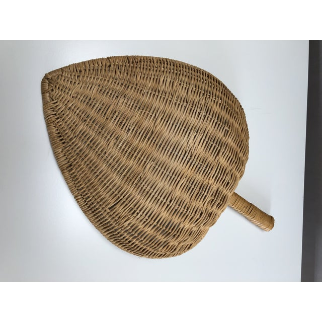 1960s Boho Chic Wicker Basket With Handle For Sale In Santa Fe - Image 6 of 11