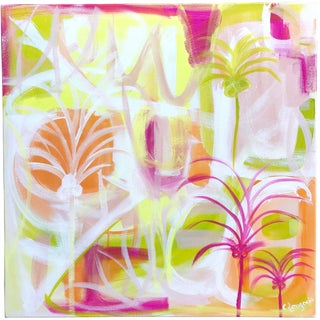 """Palms in Paradise"" Contemporary Painting For Sale"