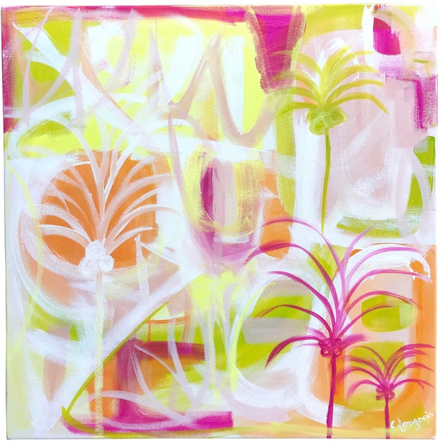 """""""Palms in Paradise"""" Contemporary Painting For Sale"""