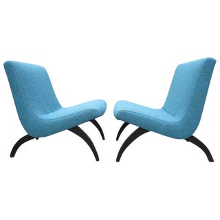 1950s Vintage Milo Baughman for Thayer Coggin Scoop Lounge Chairs - A Pair For Sale
