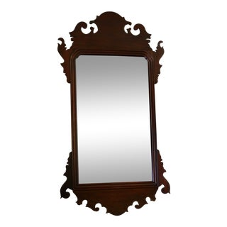 """Chippendale Federal Mahogany Wall Mirror - 37.75"""" X 20"""" For Sale"""
