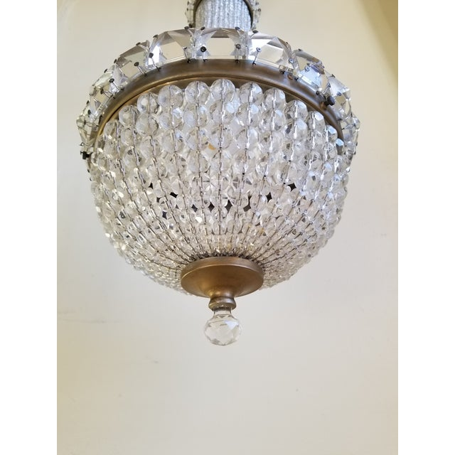 Antique French Empire Style Crystal Chandelier For Sale - Image 4 of 10