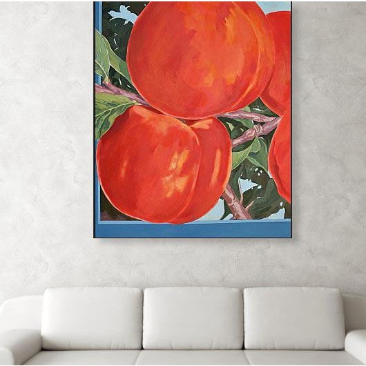 """Four Apricots' is a large 42""""x 34"""" oil painted on stretched canvas. I began work on 'Four Apricots' working from the view..."""