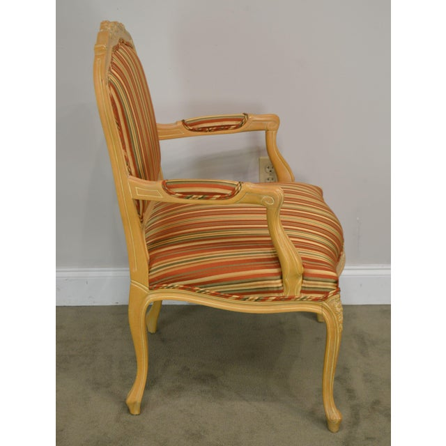 Ethan Allen Ethan Allen Home Collection Louis XV Style Armchair Made in Italy For Sale - Image 4 of 13