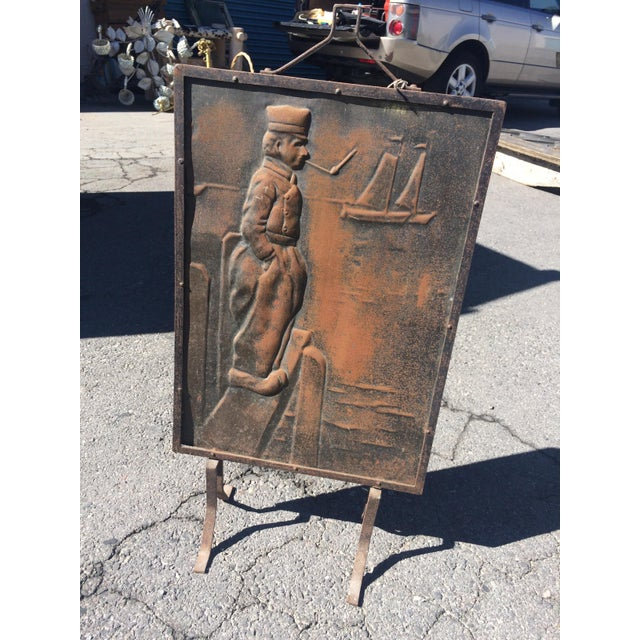 Pressed Iron Fire Screen - Image 2 of 3