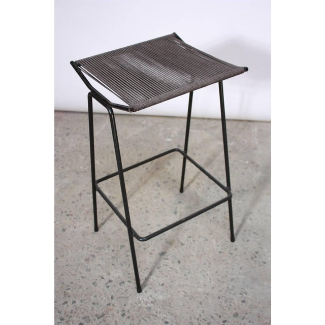 Set of Four Allan Gould Iron and Rope Stools - Image 5 of 10