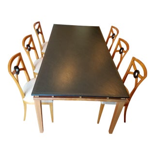 1990s Biedermeier Cessina Dining Set - 7 Pieces For Sale