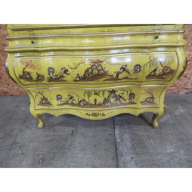 Asian Chinoiserie Bombay Secretary Desk For Sale - Image 3 of 8