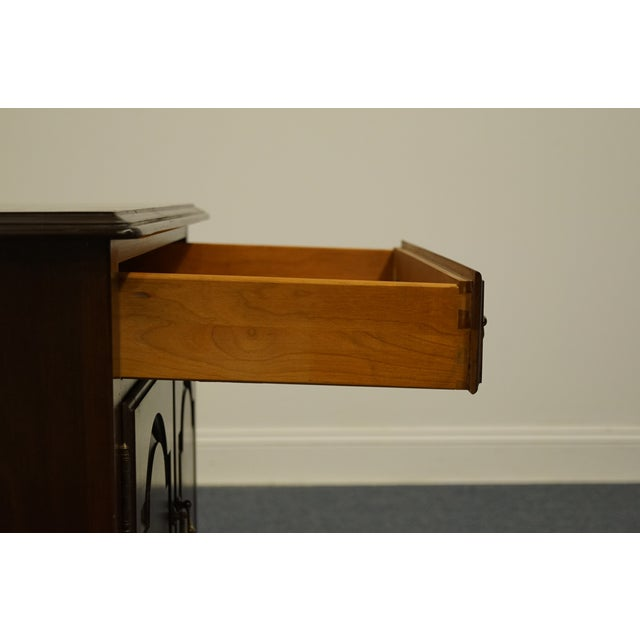 Ethan Allen Georgian Court Solid Cherry Storage Accent Table For Sale In Kansas City - Image 6 of 12