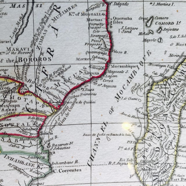 French Vintage 1791 d'Anville Map of Africa For Sale - Image 3 of 7