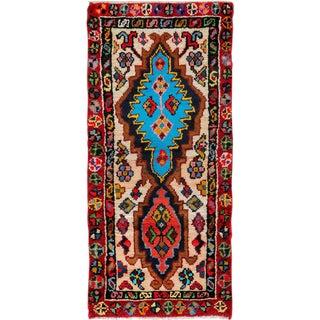 "Vintage Persian Hamadan Rug – Size: 1' 10"" X 4' 4"" For Sale"