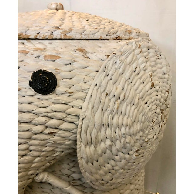 XL Elephant Basket With Lid For Sale - Image 10 of 11