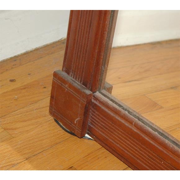 19th Century. Large Floor/Wall Walnut Natural Floor Mirror For Sale - Image 5 of 6