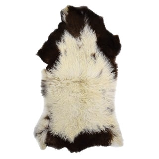 "Handmade Long Hair Sheepskin Pelt - 2'3"" x 4'0"""