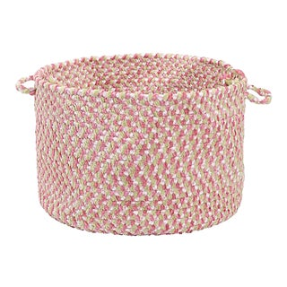 "Blokburst Tea Party Pink 18""x12"" Utility Basket"