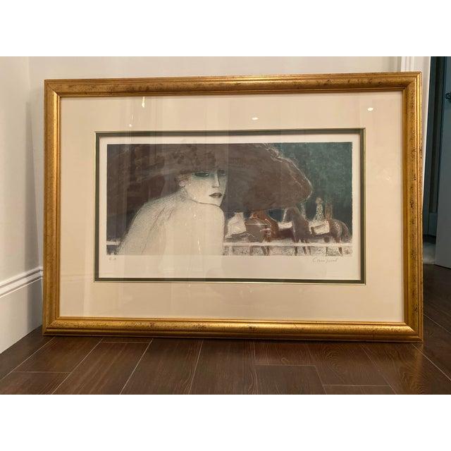 French Jean-Pierre Cassigneul Ne' en 1935 Cavaliers Au Bois Print, 1983 Framed For Sale - Image 3 of 3