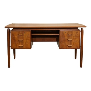 "Original Danish Mid Century Teak Desk - ""Bevtoft"" For Sale"