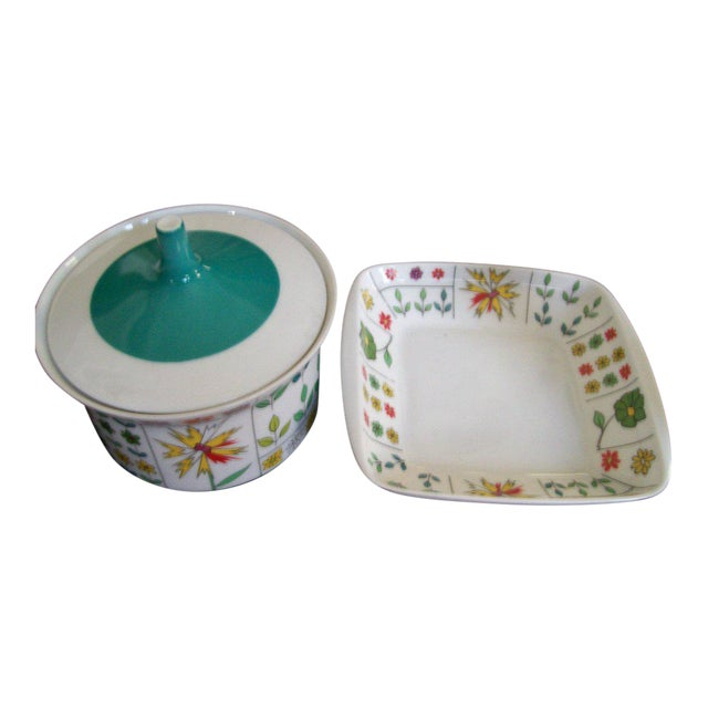b2fc0e991bfc Emilio Pucci for Rosenthal Mid-Century Covered Dishes - A Pair For Sale