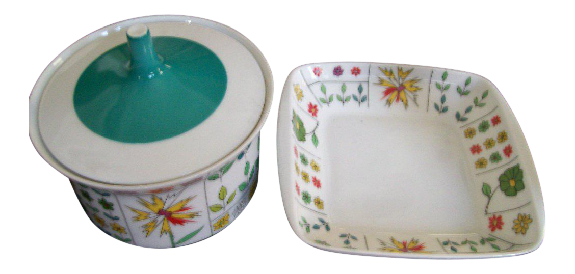 Emilio Pucci for Rosenthal Mid-Century Covered Dishes - A Pair  sc 1 st  Chairish & Emilio Pucci for Rosenthal Mid-Century Covered Dishes - A Pair ...