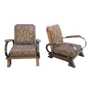 Vintage Studio Craft Deco Revival Reclining Chairs - a Pair For Sale