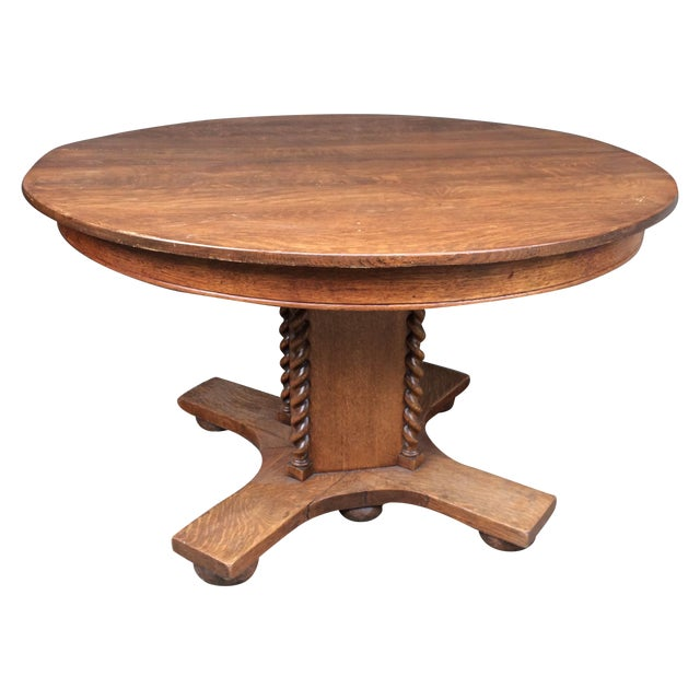 Oak Barley Twist Table - Image 1 of 4