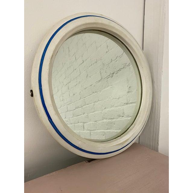 Vintage 1960s Nautical Porthole Mirror For Sale - Image 4 of 10