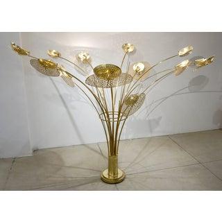 Contemporary Italian Organic Brass Tree Sculpture Floor Lamp Preview