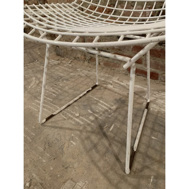 Harry Bertoia Vintage Mid Century Knoll Bertoia White Side Chairs - Set of 4 For Sale - Image 4 of 13