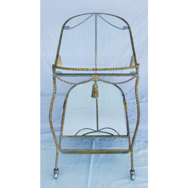 1950s Vintage Italian Bar & Beverage Liquor Tea Party Cart For Sale In Los Angeles - Image 6 of 12