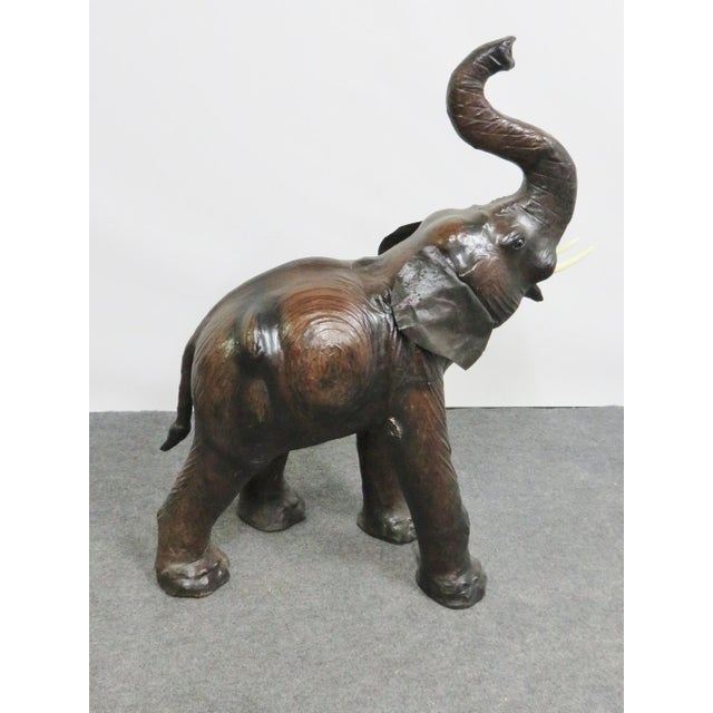 Leather Elephant Statue For Sale - Image 4 of 6