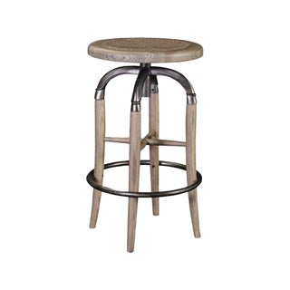 Transitional Maitland-Smith Swivel Kitchen Stool