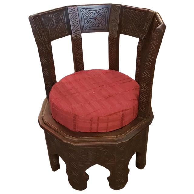 Moroccan Handmade Cedar Wooden King Chair