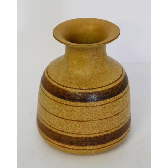1970s Stoneware Striped Vase For Sale - Image 5 of 5