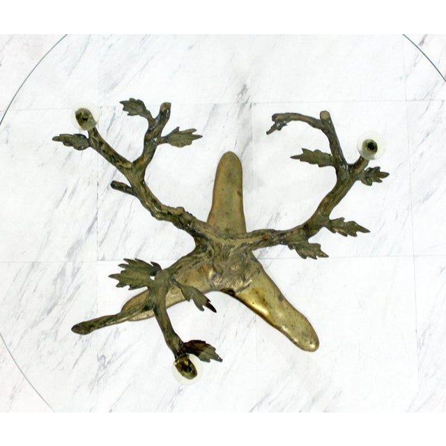 Modern Art Deco Cast Bronze Tree Limb Side End Table For Sale - Image 4 of 6