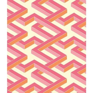Cole & Son Luxor Wallpaper Roll - Pink For Sale
